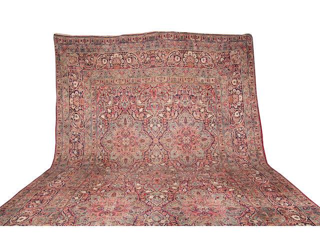 A large Kirman Carpet,