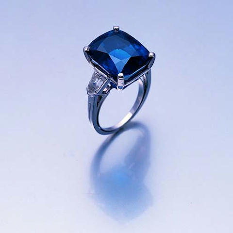 A fine Kashmir sapphire single-stone ring, by Tiffany & Co.,