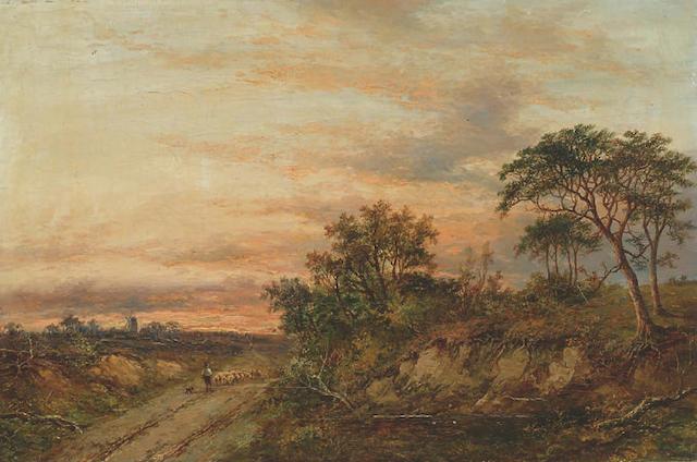 Joseph Thors (fl.1863-1900) 'View in the Yorkshire moors' 40 x 61cm