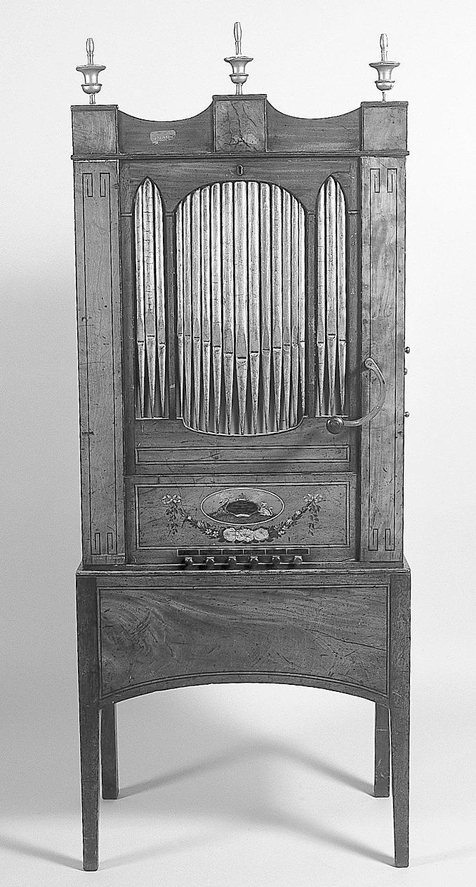 An early 19th Century chamber organ,