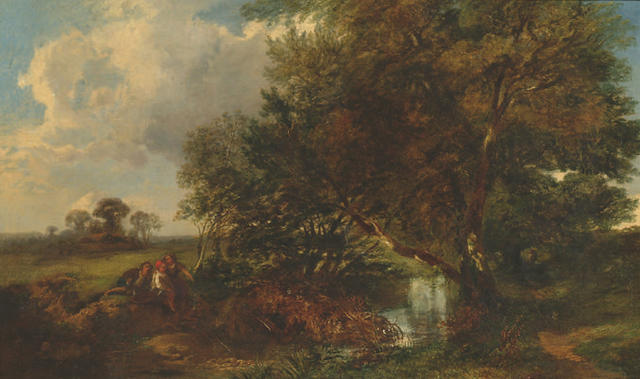 Edmund John Niemann (1813-1876) 'Near High Wycombe' 37 x 62cm