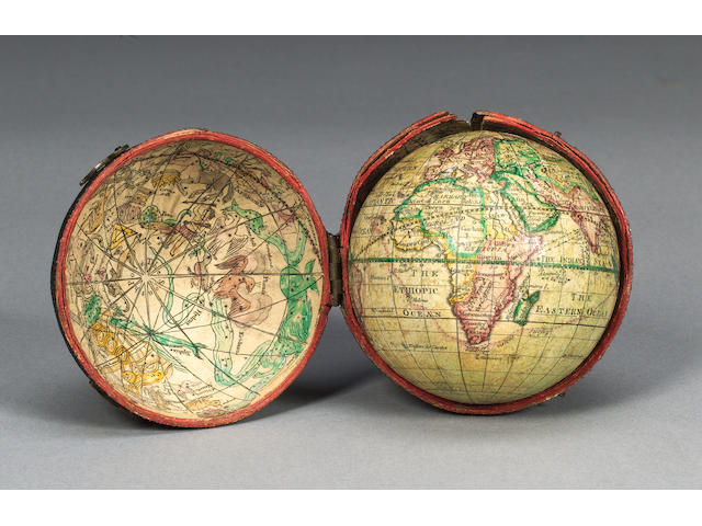 A 3-Inch James Ferguson Pocket Globe, English, circa 1756,