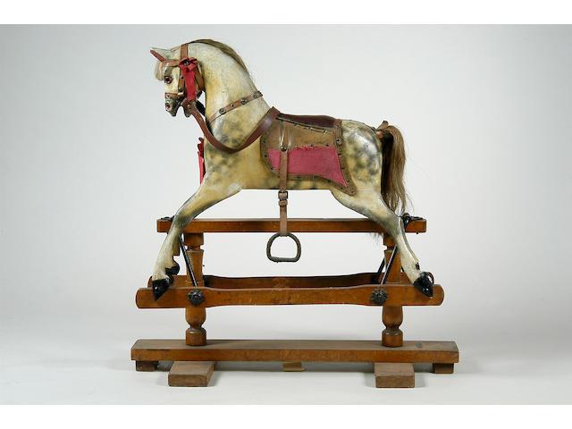 Albert List, Ipswich; a Victorian grey rocking horse