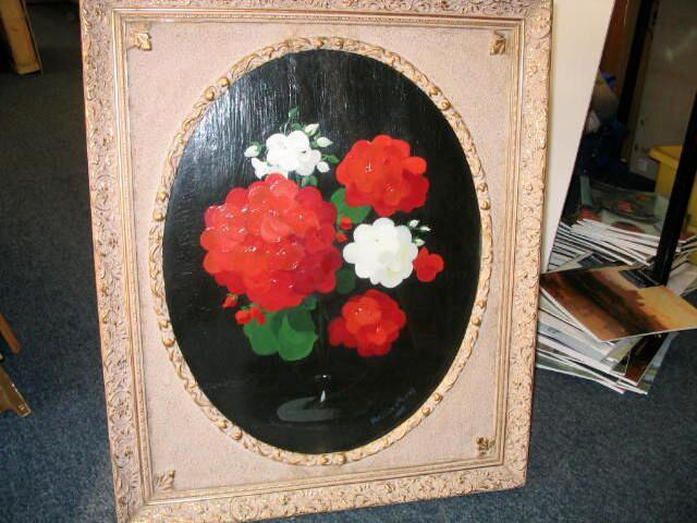 James Stuart Park (1862-1933) White and red geraniums 49 x 39cm (19 1/2 x 15 1/2ins)