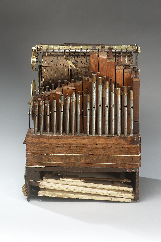 A fine third quarter of the 18th Century ormolu mounted ebonised automata organ clock playing a choice of ten tunes George Pyke, London