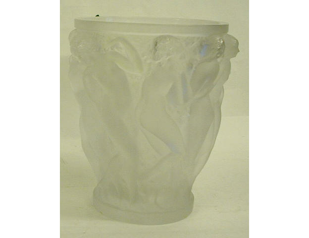 A contemporary Lalique vase 'Bacchantes',