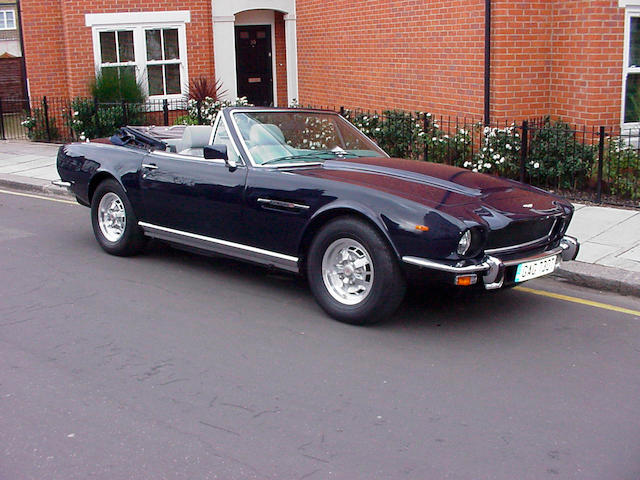 1979 Aston Martin V8 Volante Series 1 Convertible  Chassis no. V8COR15080 Engine no. V/540/5080/S