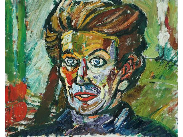 John Bratby (British, 1928-1992), Portrait of Heather Jenner, 41 x 51cm.