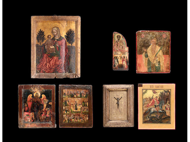 An 18th century Italo-Cretan painted panel icon