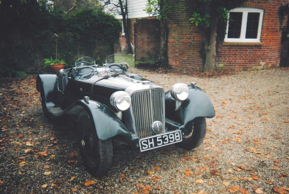 c.1934 Jaguar SS2 1.6-Litre Special Roadster  Chassis no. 21706 Engine no. DD3702FR