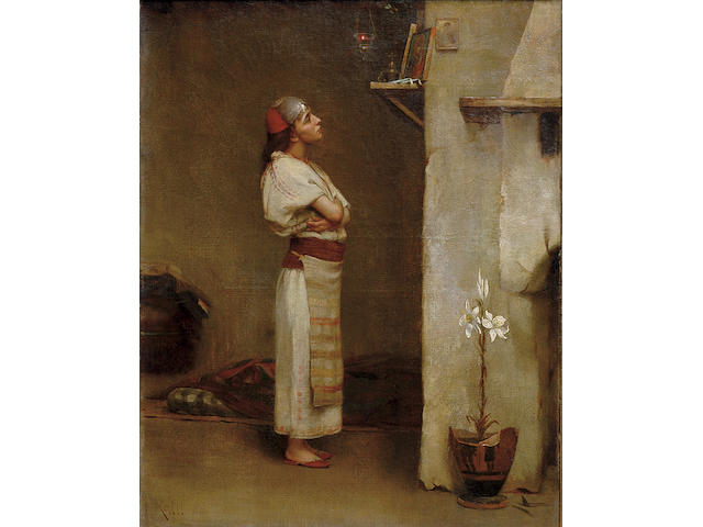 Theodoros Ralli (Greek 1852-1909) Devotion 42 x 32.5 cm. (16 1/2 x 12 3/4 in.)