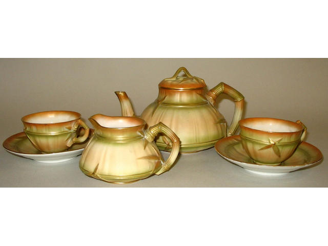 A Royal Worcester blush ivory dejeuner set,