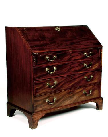 A Georgian mahogany bureau