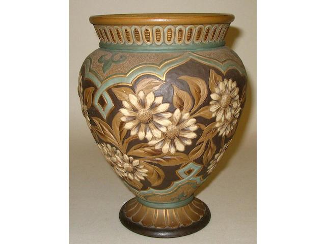 A Doulton Silicon Ware vase by Eliza Simmance,