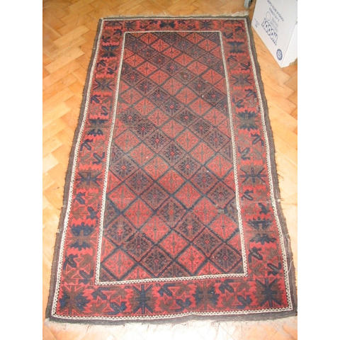 A Belouch rug, Persia/Afghanistan border, 1.78 x 0.92cm