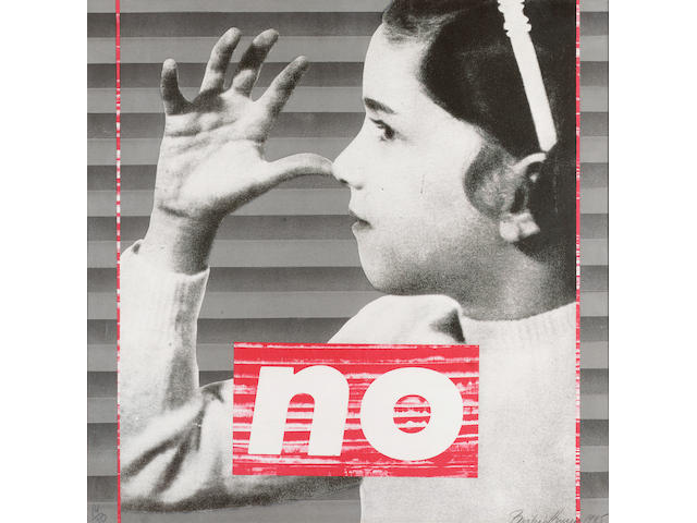 Barbara Kruger (b.1945) We Will No Longer Be Seen and Not Heard