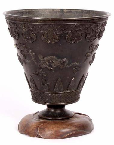 A 19th Century Eastern bronze vase