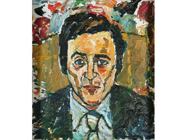 John Bratby (British, 1928-1992), Portrait of John Hansen, singer 40.5 x 35.5cm.