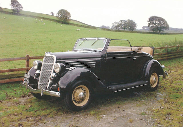1935 Ford V8 Model 48 'Rumble Seat' Cabriolet  Chassis no. 2118337 Engine no. 2118337