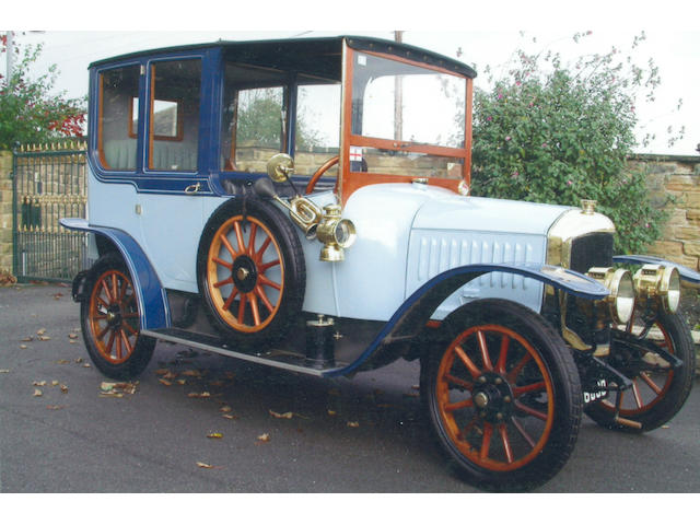 1915 De Dion Bouton 12hp Type GB Six-Seater Town Car  Chassis no. 39538 Engine no. 159749