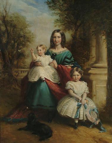 Manner of Winterhalter family, oil on canvas