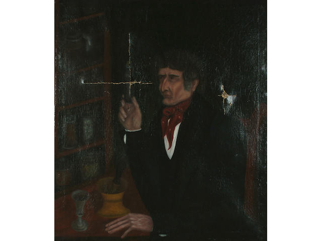 Provincial School, 19th Century The Alchemist, 94 x 82.5 cm (37 x 32 1/2 in.)