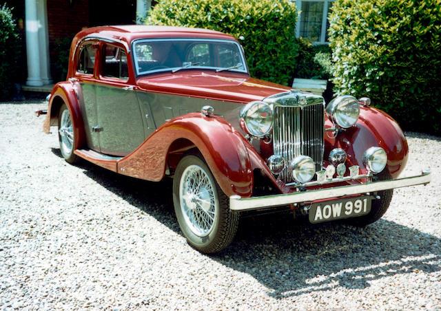 1937 MG SA 2-litre Sports Saloon  Chassis no. SA1893 Engine no. OPHG 2174