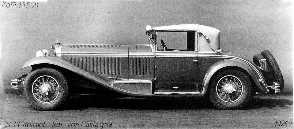 1929 Mercedes-Benz 38/250-hp SS Roadster-Cabriolet  Chassis no. 14034 Engine no. 321096