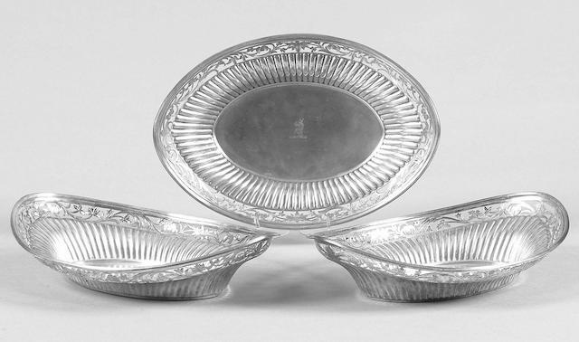 A set of three Victorian dishes John Brashier, 1886,