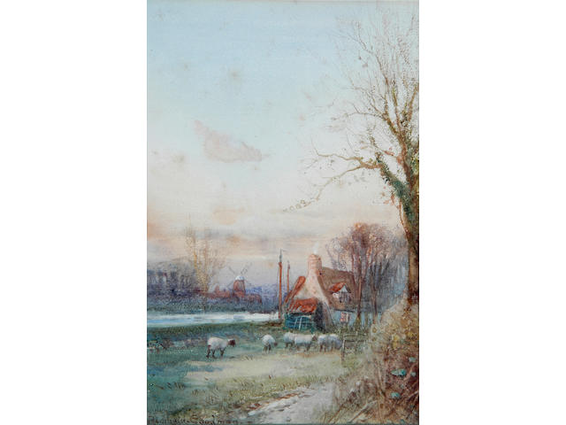 "John Reginald Goodman (b.1878) ""Late Autumn on the Broads"" 23 x 16cm (9 x 6¼in), and a companion, a pair. (2)"