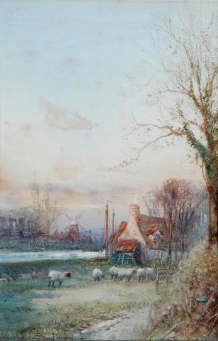 "John Reginald Goodman (b.1878) ""Late Autumn on the Broads"" 23 x 16cm (9 x 6¼in), and a companion, a pair. (2)"