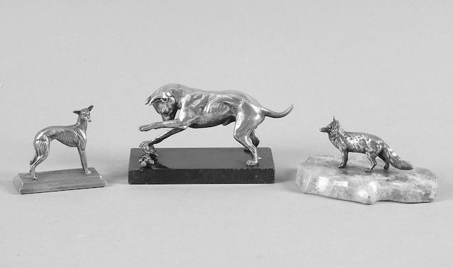 A model of a fox S.Mordan & Co, Chester 1911,