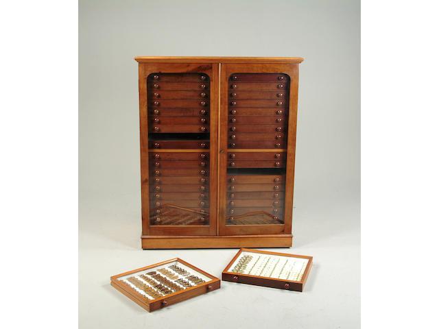 A late Victorian mahogany collectors cabinet