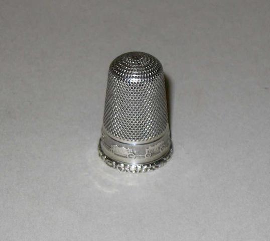 A rare silver thimble,