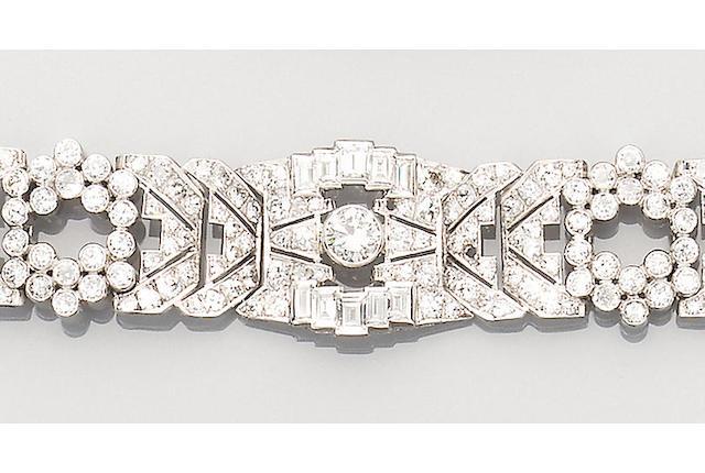 A diamond strap bracelet