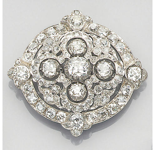 A late Victorian diamond-set brooch circa 1870