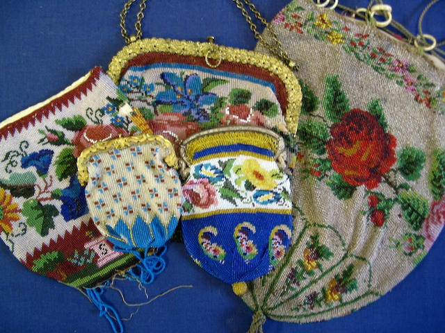 A collection of evening bags and purses,