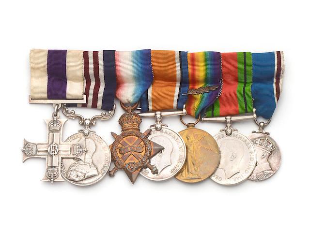 A Great War M.C. and M.M. group of seven to Captain J.T.Bridge, Royal Warwickshire Regiment,