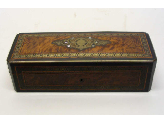 A late 19th Century French rectangular box,