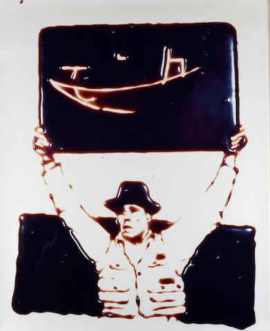 Vik Muniz (b.1961) Teacher (Joseph Beuys from Pictures in Chocolate) 152.5 x 122 cm. (60 x 48 in.) (sheet)