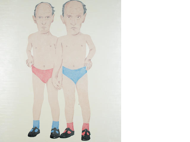 James Rielly (b.1956) Undies, 1999 182.8 x 214 cm.