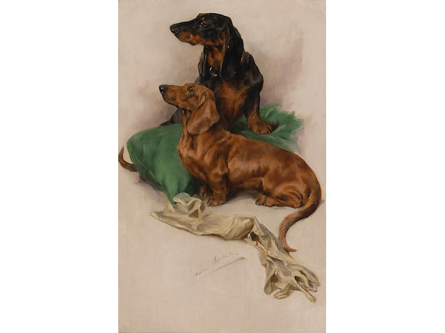 Arthur Wardle RI  Dachshunds