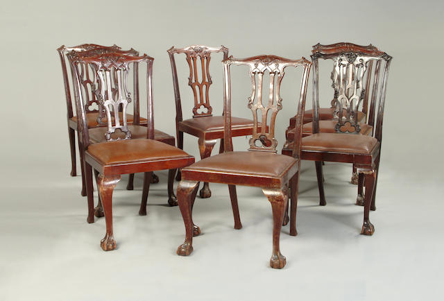 A set of eight George III style dining chairs