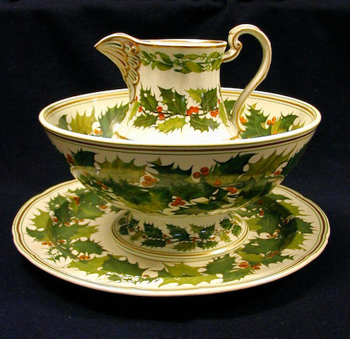 A Copeland jug, punchbowl and large platter