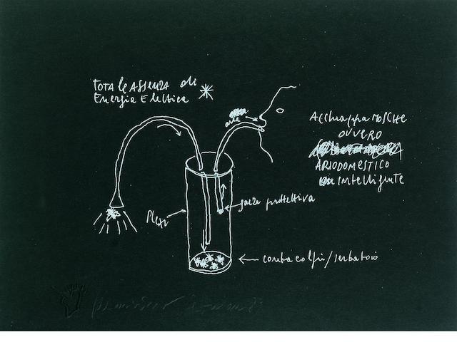 Maurizio Cattelan (b.1960) Untitled (Face), 1989 52.5 x 60 cm.