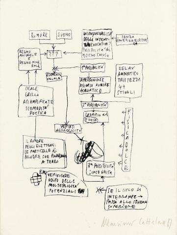 Maurizio Cattelan (b.1960) Untitled 30 x 21 cm. (11 3/4 x 8 1/4 in.)