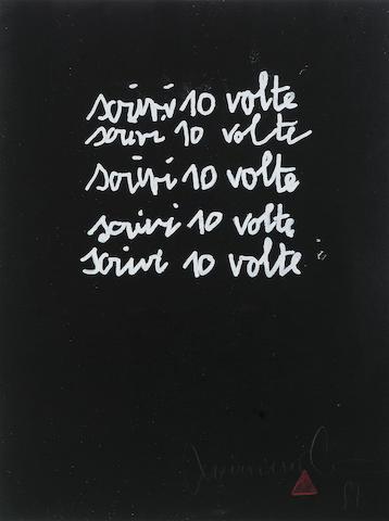 Maurizio Cattelan (b.1960) Untitled (10 Volt), 1989 60 x 52.5 cm.
