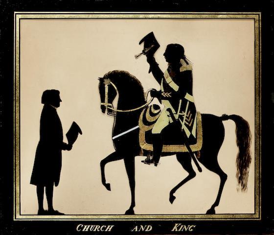 C. Rosenberg, George III raising hat to John Moore, silhouette