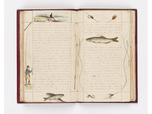 MANUSCRIPT The Practical Angler. A dialogue descriptive of the art in all its branches, local scenery, original anecdotes, &c. &c. by J.S., a lover of the angle