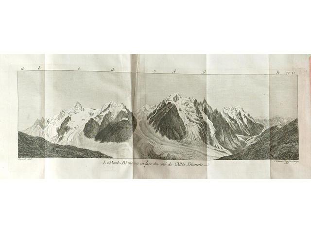 SAUSSURE (HORACE BENEDICTE DE) Voyages dans les Alpes precedes d'un Essai sur l'Histoire Naturelle des Environs de Geneve (8)